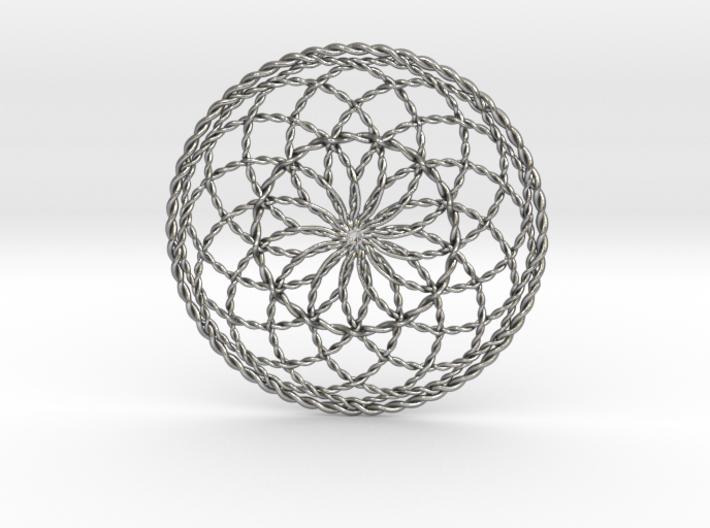 "Ultra Moon Flower Pendant 2.7"" (no bale) 3d printed"