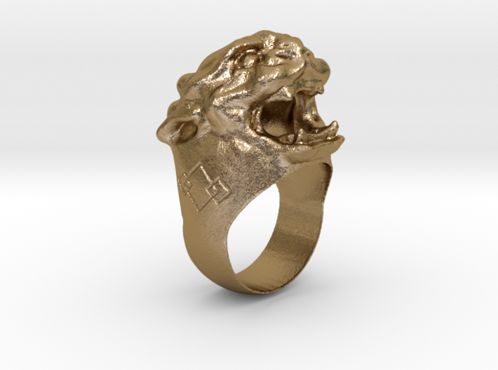 Chevalière Lion Chinois  3d printed