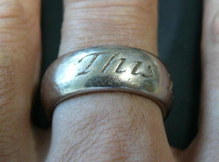 This Too Shall Pass ring size 10 3d printed This