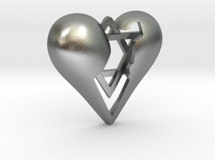 Israel in Heart Pendant 3d printed Israel in Heart