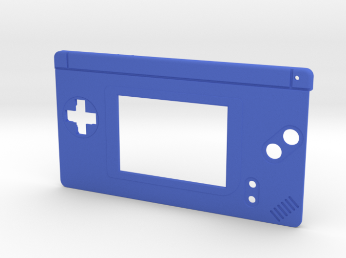 Gameboy Macro Faceplate (for DS Lite) - 2 Buttons 3d printed