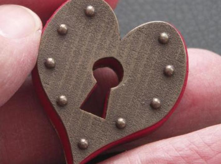 Heart Keyhole Pendant 3d printed To show scale...