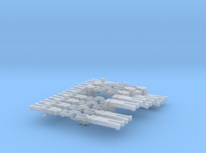 NEM OO 3 Link & Instanter Couplings - Basic Sample 3d printed