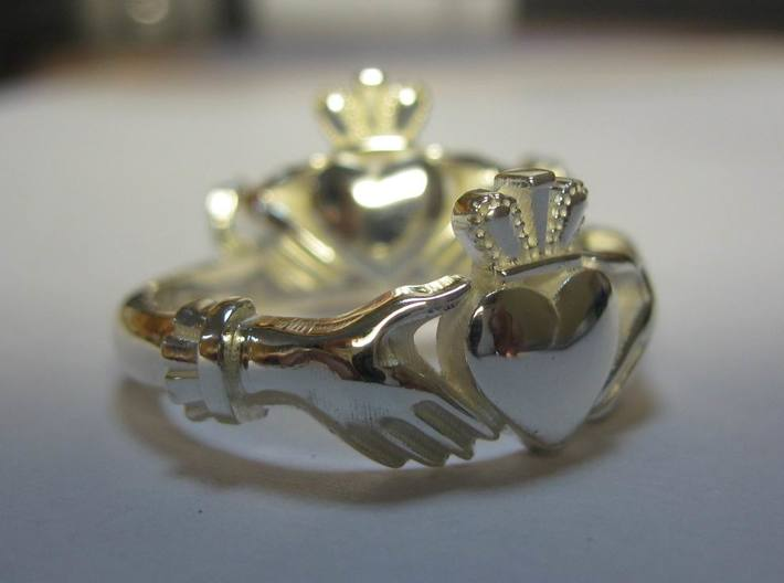 Claddagh classic ring 3d printed