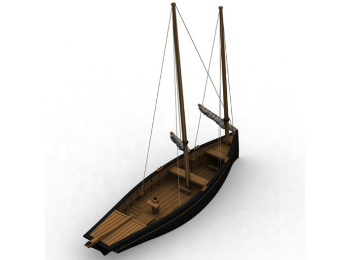 HObat50 - Old fishing boat 3d printed