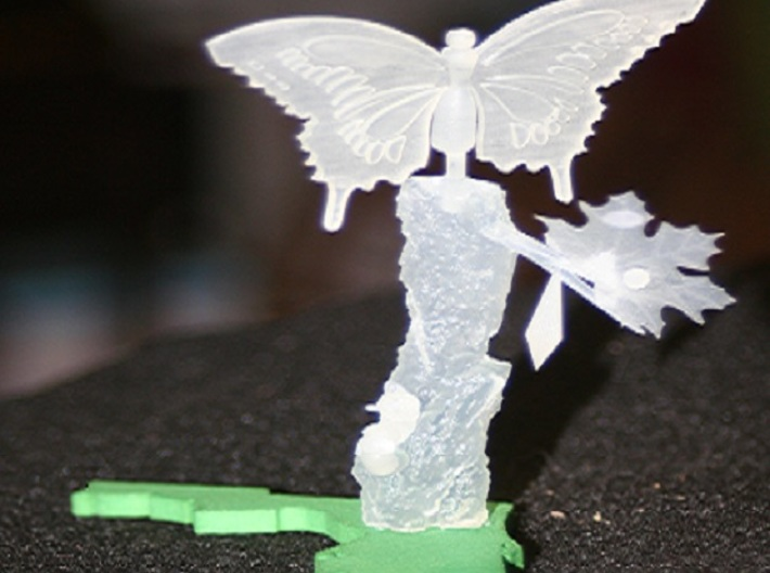 Life Of A Butterfly1 3d printed finished product unpainted
