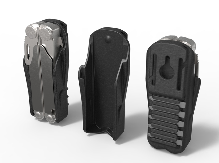 Leatherman Wave Holster, for Belt or PALS 3d printed Accurate CAD design.