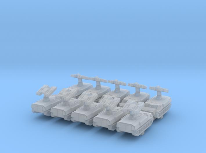 1/700 Russian 9K35 Strela-10 (SA-13 Gopher)SAM x10 3d printed 1/700 Russian 9K35 Strela-10 (SA-13 Gopher)SAM x10