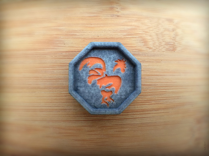 Rooster Talisman 3d printed