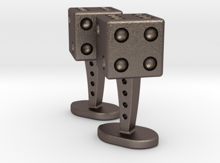 Dice Cufflinks 3d printed