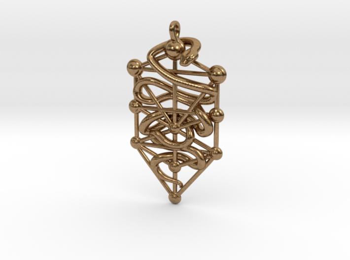 Kabbalah Serpent Keychain 4.5cm 3d printed