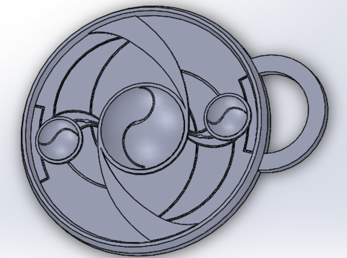 Homura's shield Pendant/keychain 3d printed