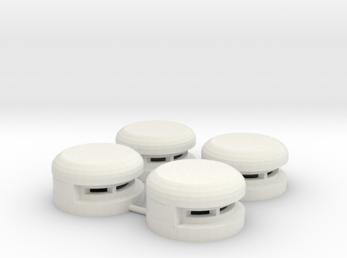 15 mm Round Bunker x4 (1) 3d printed