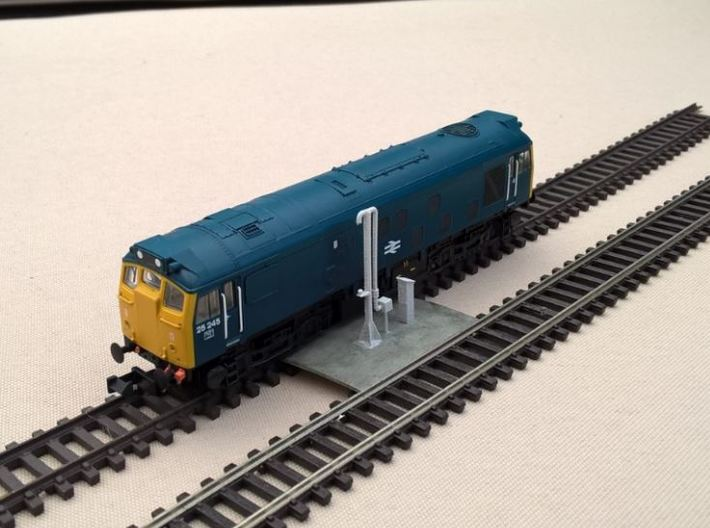 N Gauge Diesel Depot Re-fuelling Pump 148th 3d printed