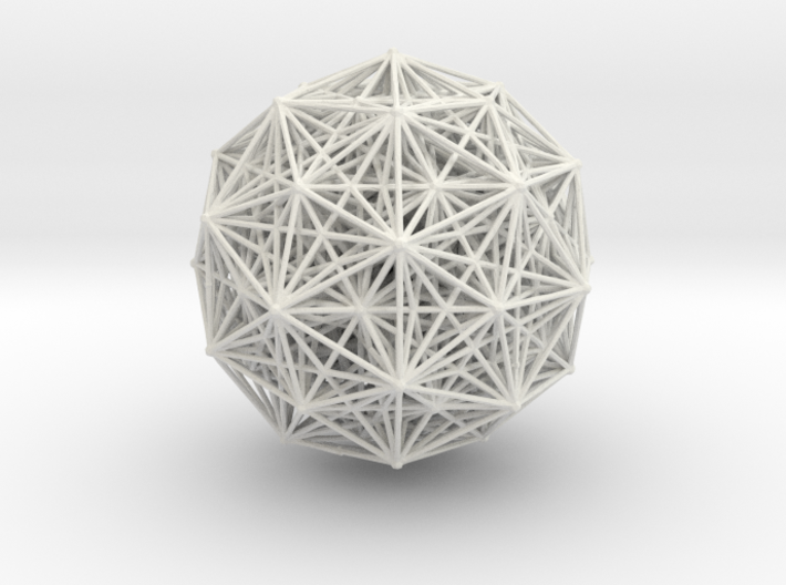 E8 polytope, orthographic 3d printed