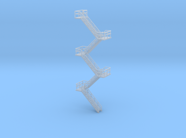 N Scale Staircase H99.6mm 3d printed