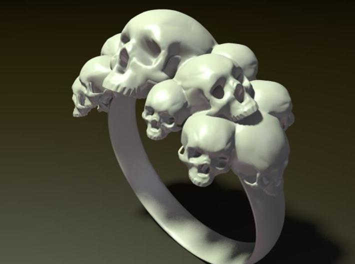 Skull Ring size 6- 3d printed Description