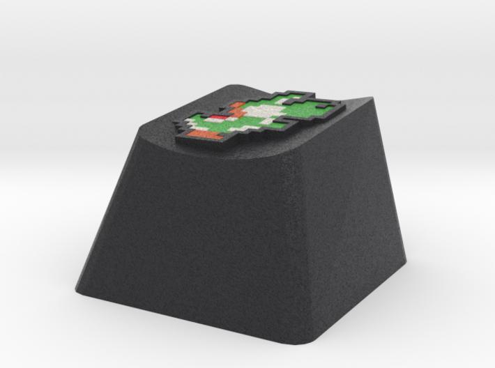 Green Yoshi Cherry MX keyboard keycap 3d printed