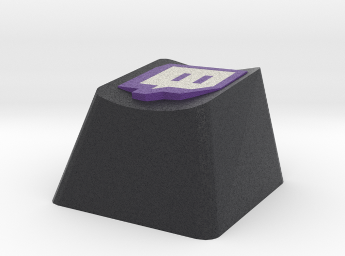 Twitch Cherry MX Keycap 3d printed