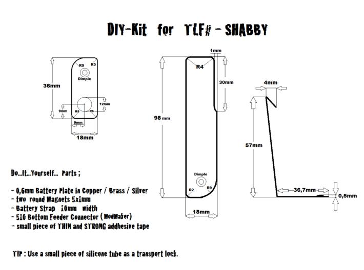 TLF# - Shabby Bunny Body - 18650 3d printed