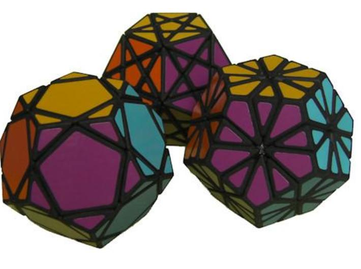 Mini Dodecahedra 3d printed The three Mini Dodecahedra