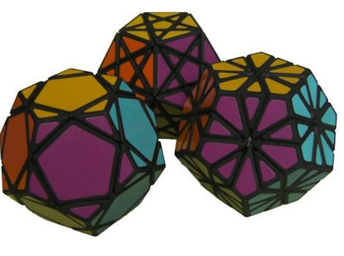 Mini Dodecahedra 3d printed The three Mini Dodecahedra