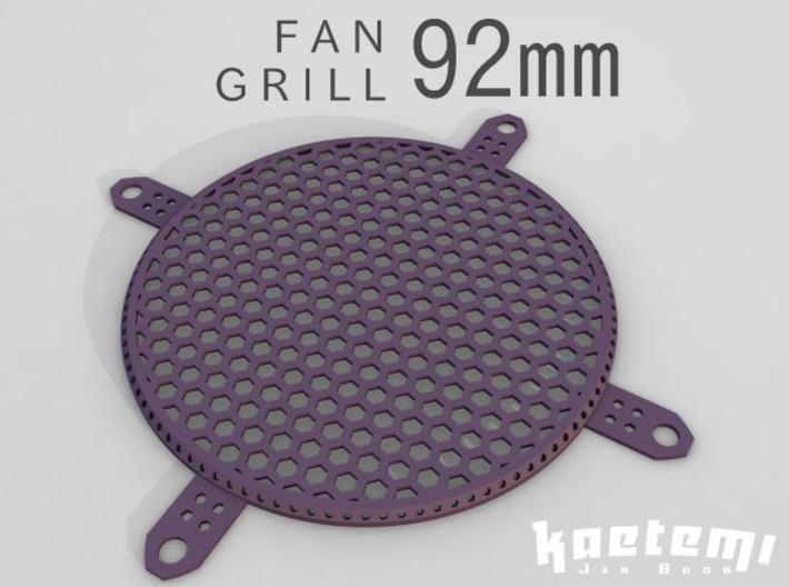 Fan Grill 92mm 3d printed Fan Grill 92mm 3D Render