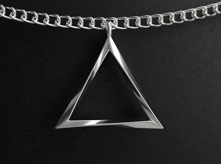 Twisting Triangle Pendant 3d printed