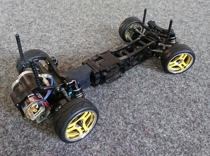 Tamiya M04 Wide Front Shocktower 3d printed combined with M04RR-XL spacer