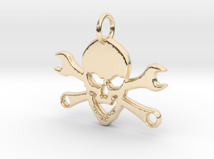 Skull and cross toolkeys Pendant 3d printed