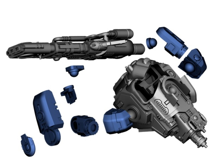 Stormwave - Arms for Two Handed Weapon 3d printed Assembly Instructions