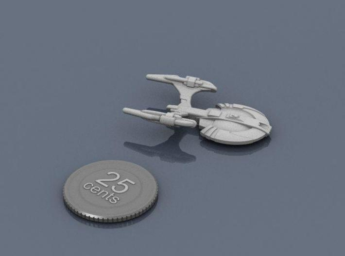 Xuvaxi Adjudicator F 3d printed Render of the model, with a virtual quarter for scale.