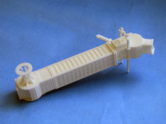 Articulated airport jetway (aerobridge), 1:200 3d printed