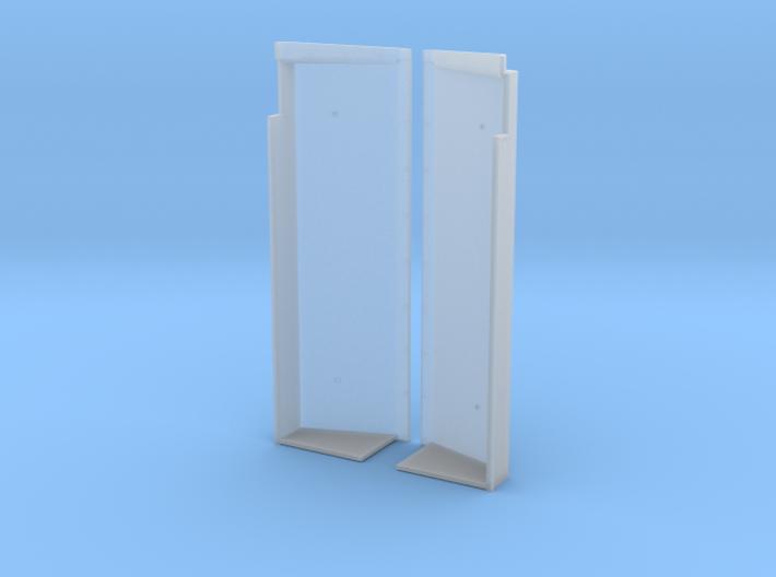 SN0001 SD40-2W Wide Notch Snow Shields 1/87.1 3d printed