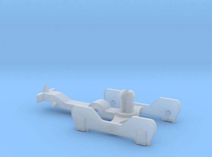 FR-style bogie with coupling 3d printed