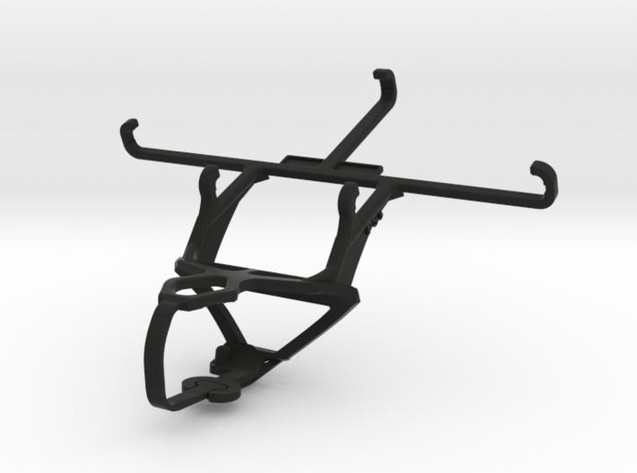 PS3 controller & QMobile Noir X900 - Front Rider 3d printed