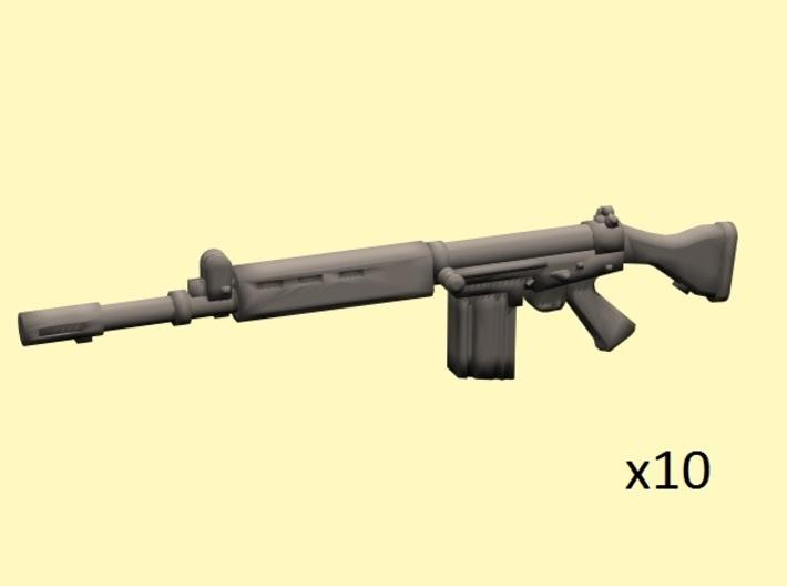 28mm FN FAL rifles (10) 3d printed