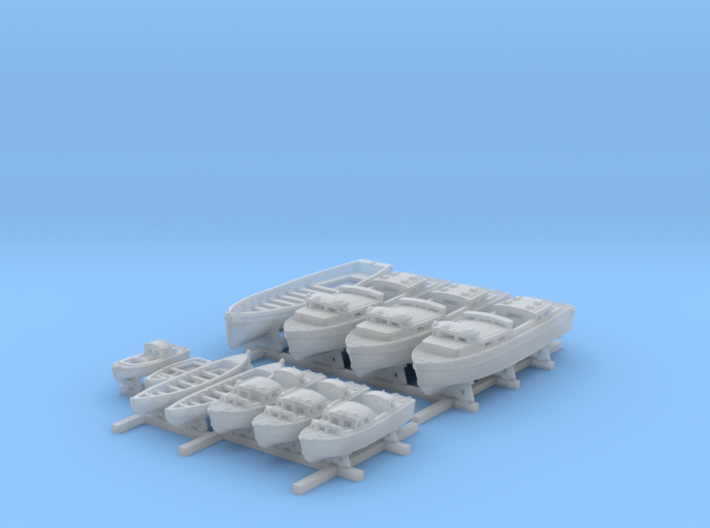 1/350 HMS Duke of York Boat Set 3d printed 1/350 HMS Duke of York Boat Set