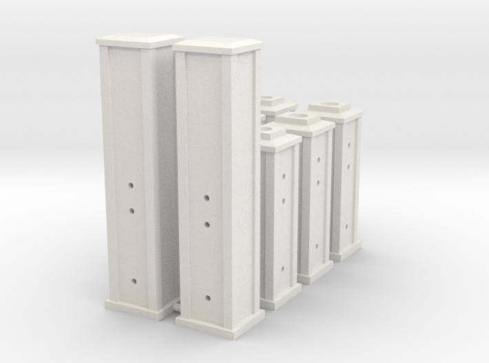 HO/1:87 Cemetery set 5 - pillars kit 3d printed
