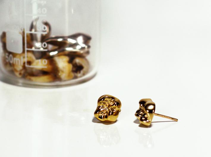 Tooth Cap Stud Earrings 3d printed