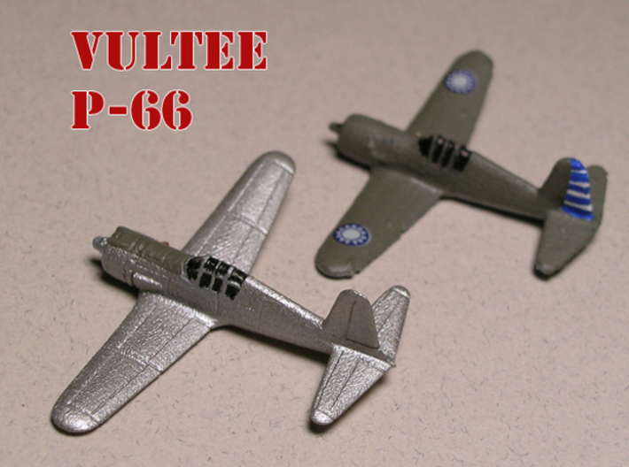 Vultee P-66 Vanguard 1/285 6mm Frosted Ultra 3d printed Vultee P-66 Vanguard the natural metal model is the Frosted Ultra detail models painted by Fred O.