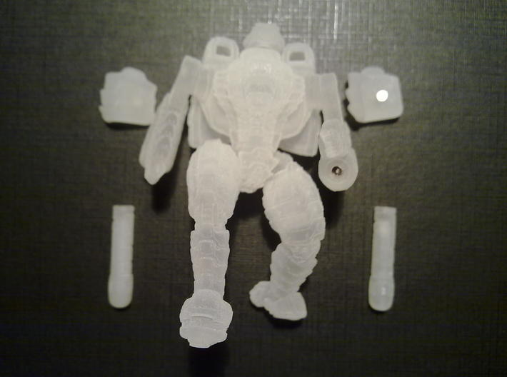 Mech suit with twin weapons. (7) 3d printed Magnets