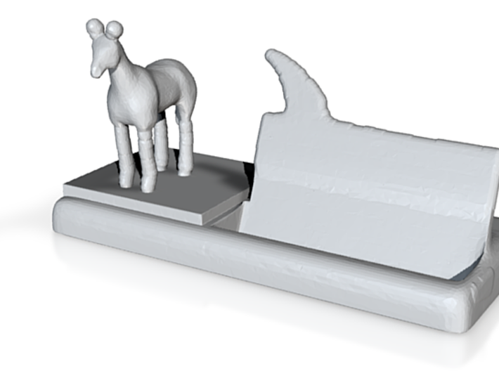 from the horse's mouth business card holder 3d printed
