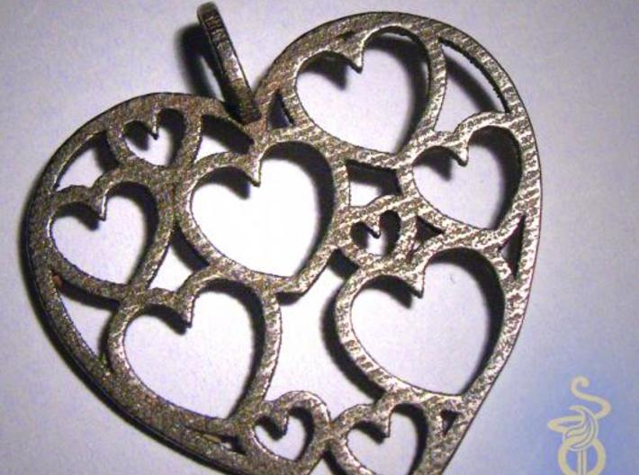 Heart of hearts pendant  3d printed 3