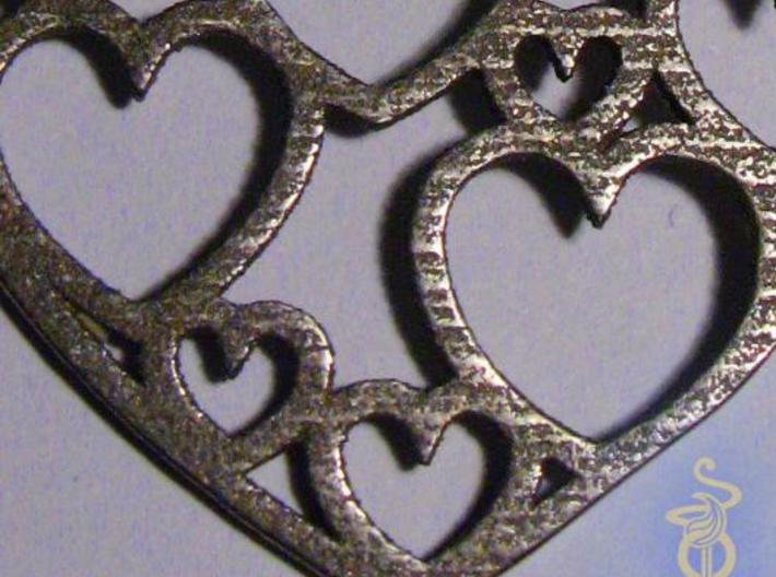 Heart of hearts pendant  3d printed 4