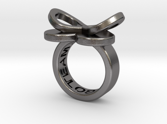 AMOUR petite in polished nickel steel 3d printed