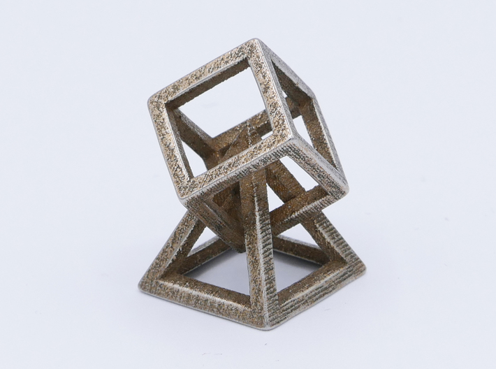 Cube and pyramid 3d printed
