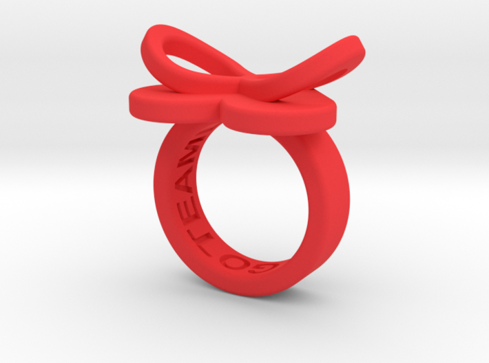 AMOUR petite in red polished plastic 3d printed