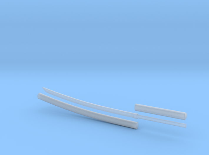 Katana - 1:6 scale - Curved Blade - Plain 3d printed