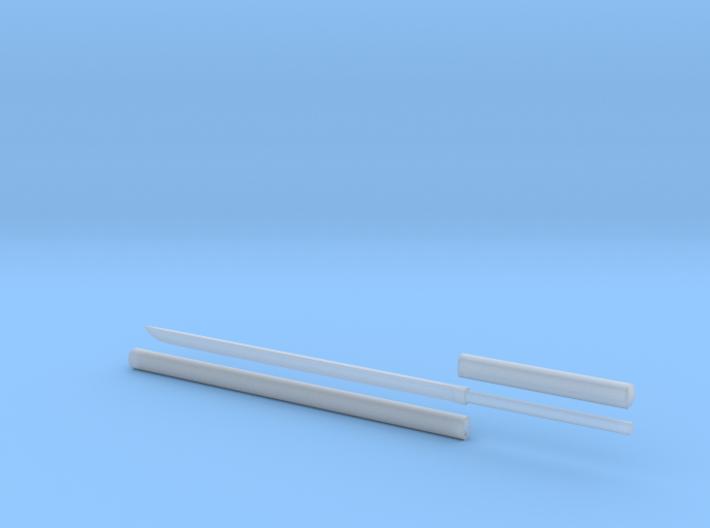 Katana - 1:6 scale - Straight Blade - Plain 3d printed